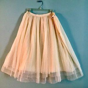 Layered Cream Tulle Skirt